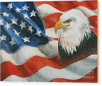 Freedom Wood Print by Andrew Read