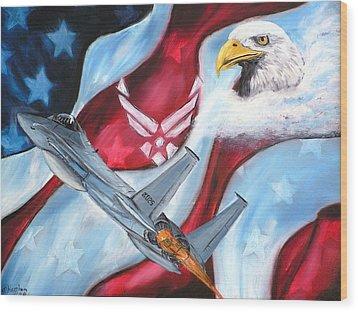 Freedom Eagles Wood Print by Dan Harshman