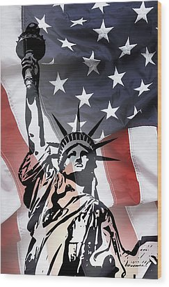 Freedom For Citizens Wood Print by Daniel Hagerman