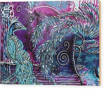 Wood Print featuring the painting Freedom by Julie  Hoyle