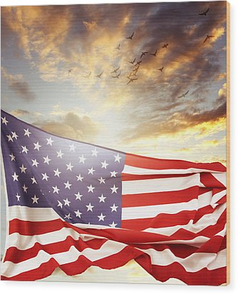 Freedom Wood Print by Les Cunliffe