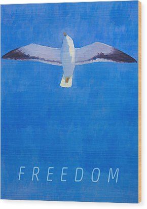 Freedom Wood Print by Lutz Baar