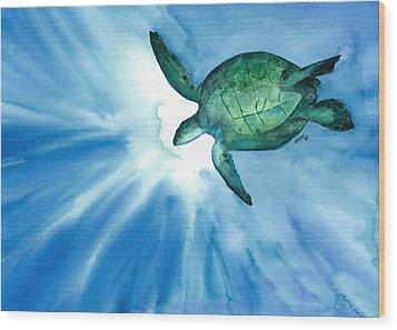 Sea Tutrle 2 Wood Print
