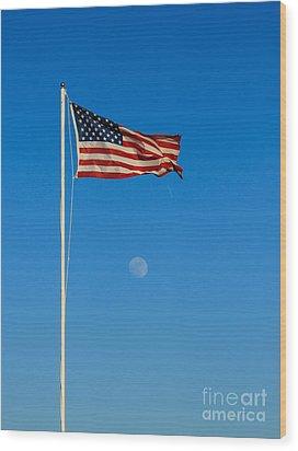 Freedom Wood Print by Robert Bales