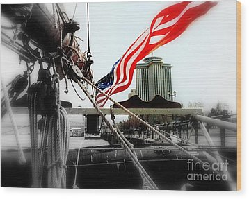 Freedom Sails Wood Print