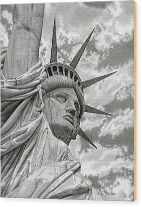 Freedom Wood Print by Sarah Batalka