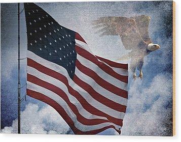 Freedom Wood Print by Scott Pellegrin