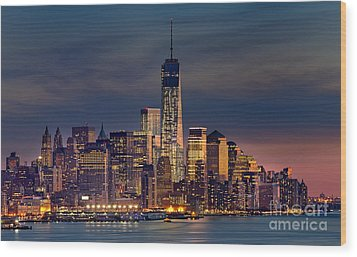 Freedom Tower Construction End Of 2013 Wood Print by Jerry Fornarotto