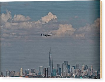 Freedom Tower Fly By Wood Print