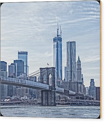 Freedom Tower Rising Wood Print by Frank Winters
