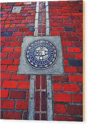 Freedom Trail Wood Print by Benjamin Yeager