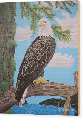 Freedom's Pride Wood Print by Vicki Maheu