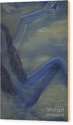 Wood Print featuring the painting Freefall by Stuart Engel