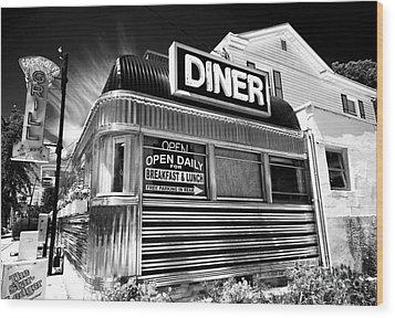 Freehold Diner Wood Print