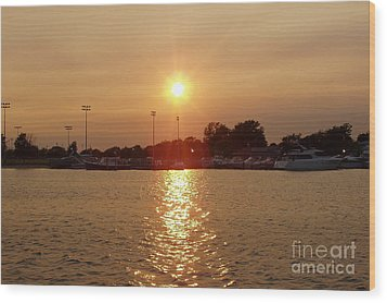 Wood Print featuring the photograph Freeport Summer Sunset by John Telfer