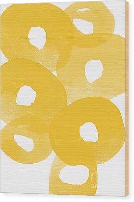 Freesia Splash Wood Print by Linda Woods