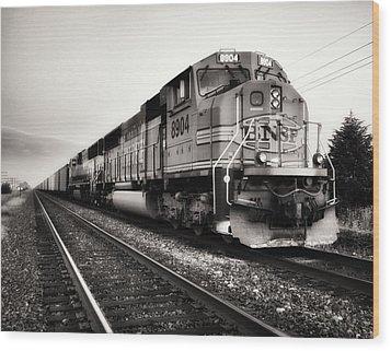 Freight Train Wood Print