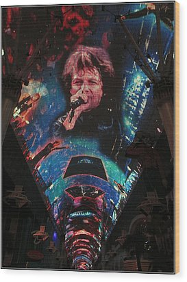 Fremont Street Experience Wood Print by Kay Novy