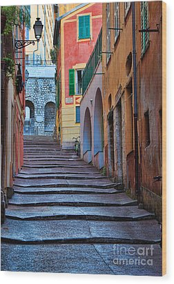 French Alley Wood Print by Inge Johnsson