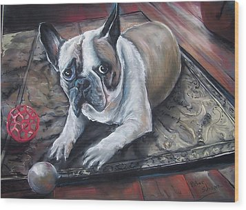 french Bull dog Wood Print
