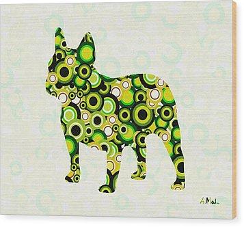 French Bulldog - Animal Art Wood Print by Anastasiya Malakhova