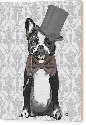 French Bulldog Monsieur Bulldog Wood Print by Kelly McLaughlan