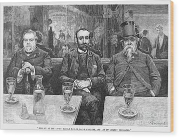 French CafÉ, 19th Century Wood Print by Granger