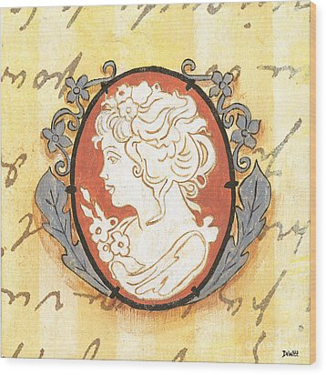 French Cameo 2 Wood Print by Debbie DeWitt