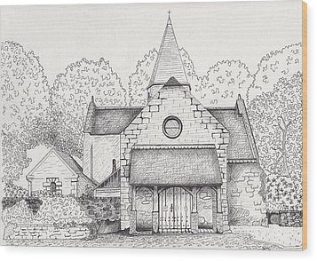 French Church Wood Print by Michelle Welles