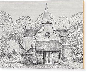 French Church Wood Print