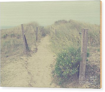 French Coast Beach Wood Print by Svetlana Novikova