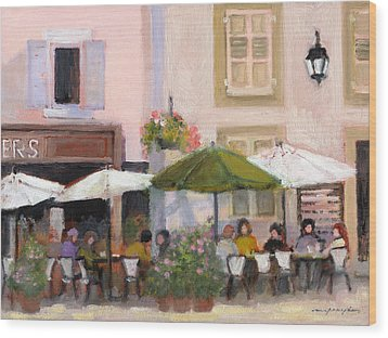 French Country Cafe Wood Print by J Reifsnyder