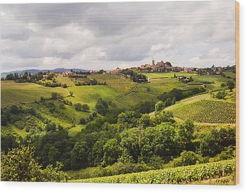 Wood Print featuring the photograph French Countryside by Allen Sheffield
