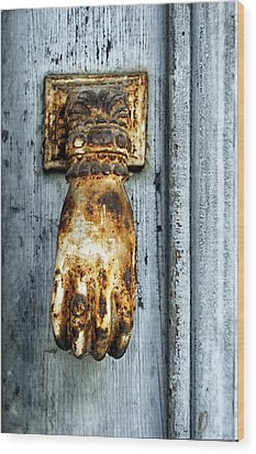 French Door Knocker Wood Print by Georgia Fowler