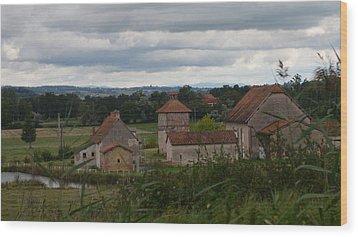 French Farm House Wood Print