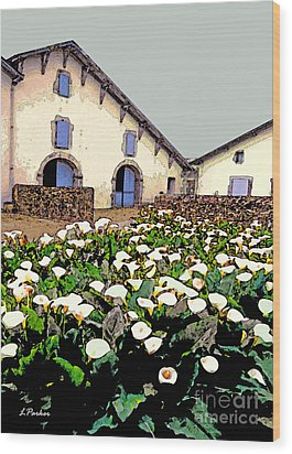 French Farmhouse In The Pyrenees Wood Print by Linda  Parker