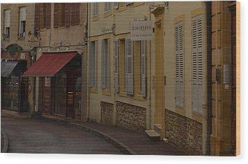 French Laneway Wood Print
