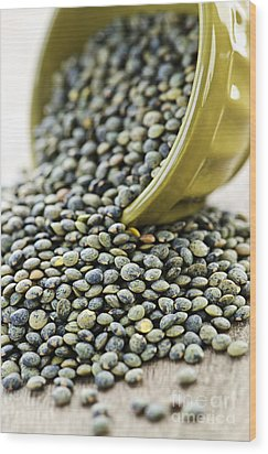 French Lentils Wood Print by Elena Elisseeva