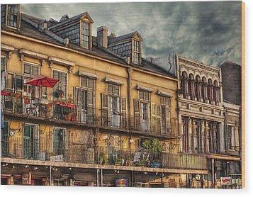 French Market View Wood Print by Brenda Bryant