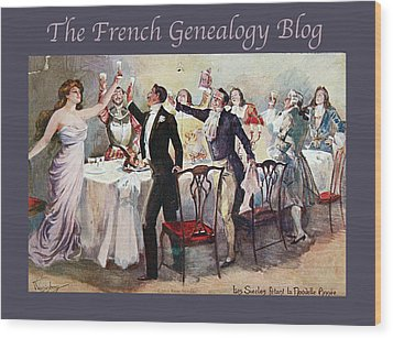 French New Year With Fgb Border Wood Print by A Morddel