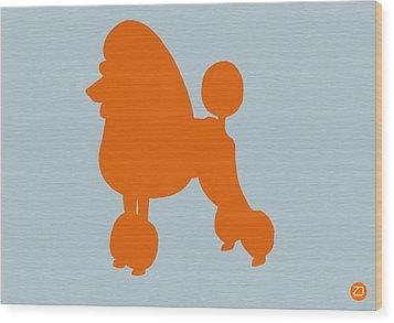 French Poodle Orange Wood Print by Naxart Studio