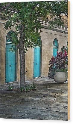 French Quarter Alley Wood Print by Brenda Bryant