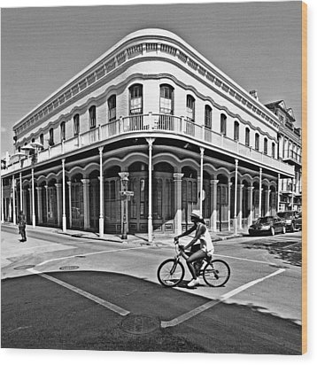 French Quarter Connection Wood Print by Andy Crawford