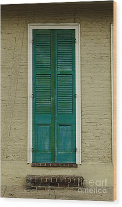 French Quarter Door - 15 Wood Print by Susie Hoffpauir