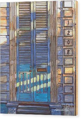 French Quarter House 1208 Wood Print by John Boles