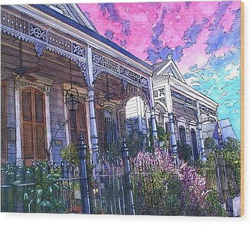 French Quarter Houses 377 Wood Print by John Boles