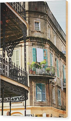French Quarter Morning Wood Print