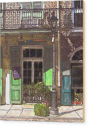 French Quarter Shop 369 Wood Print by John Boles