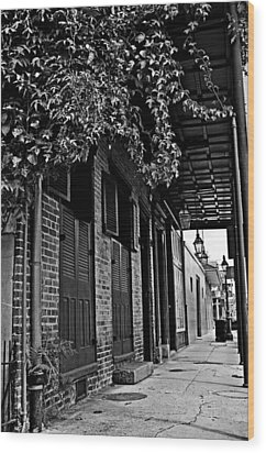 French Quarter Sidewalk Wood Print by Andy Crawford