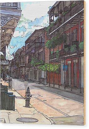 French Quarter Street 372 Wood Print by John Boles